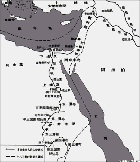 地图:古代埃及
