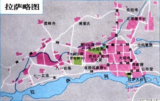 地图:拉萨市