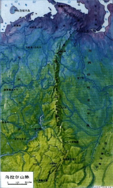 俄罗斯地图山脉