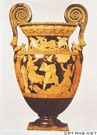神话中的曙光女神和凯法洛斯(古希腊瓶画)图片