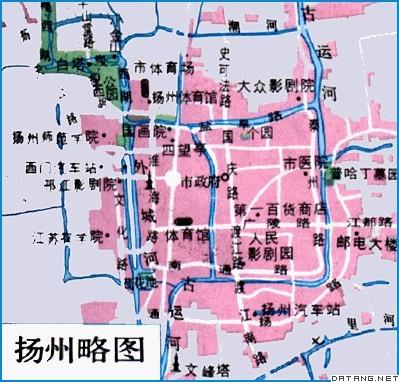 地图:扬州略图