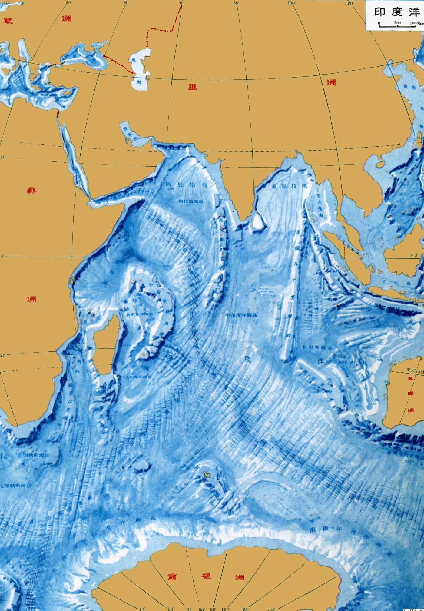 地图:印度洋