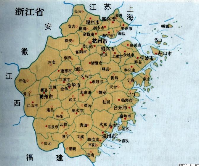 地图:浙江省