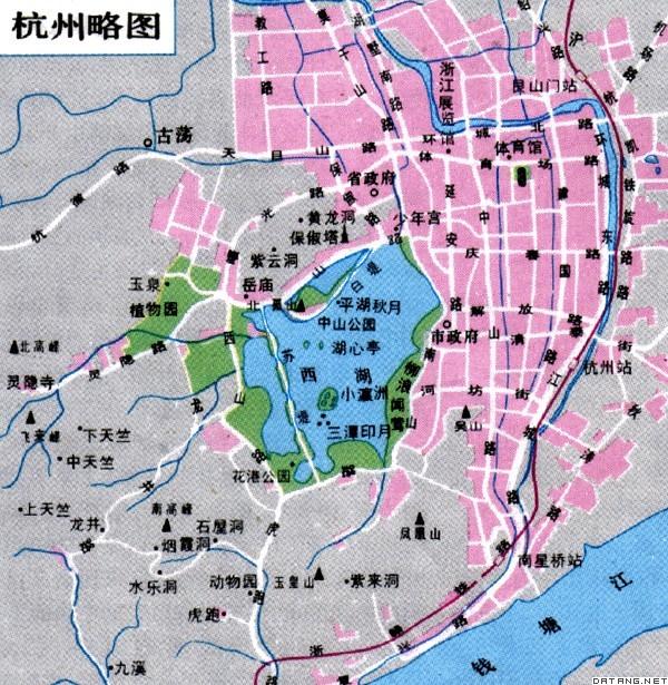杭州地图全图-词都网,在线英语词典,科技词典,在线翻译,英语翻译