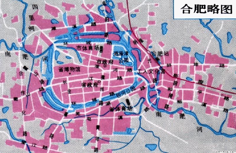 地图:合肥略图