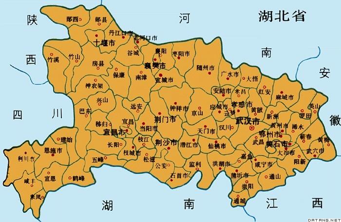 地图:湖北省图片